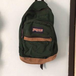 Handbags - Jansport forest green old school vintage backpack